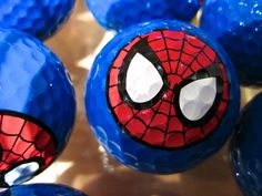 Spiderman golf ball. My son would love these! #golf #golfball #spiderman
