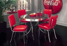 Bel Air Retro Furniture Diner Table & Four Chair Set – Comfy Living Room, Furniture, Living Room Sets, Cheap Dining Table Sets, Dining Furniture, Chair, Dining Chairs, Corner Seating, Cheap Dining Tables