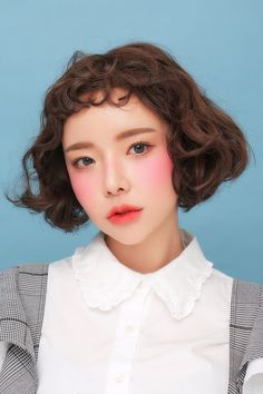 수줍게, 사랑스럽게 #동안생기연출 차분한 우아한 레드 컬러 #얼루어링 Cute Makeup, Beauty Makeup, Makeup Looks, Hair Makeup, Hair Beauty, Asian Eye Makeup, Korean Makeup, Hair Reference, Model Face