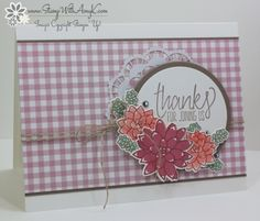 Stampin' Up! Oh So Succulent Thanks for the Happy Stampers Blog Hop