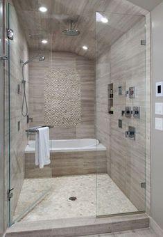 modern monochromatic bath