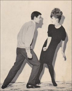"""If you looked at the body language, you'd think this guy was attacking the gal. But in 1961 they called it """"The Twist"""" a new dance craze. - Pat Cee on Pinterest"""