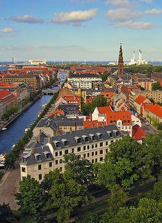Canal (Copenhagen, København, CPH, KBH, Danmark, Danish, Denmark, travel, Europe, city, capital, visit, beautiful, aerial)