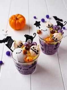 Halloween Desserts, Halloween Cookies, Halloween Treats, Kawaii Halloween, Cute Halloween, Creative Desserts, Creative Food, Cute Baking, Kawaii Dessert