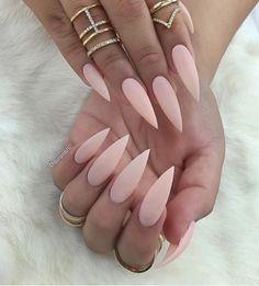 Matte Stiletto Nails These Are