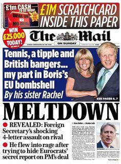 """Mail on Sunday: Meltdown Eu Referendum, Bbc, Sunday, February 2016, Shit Happens, Daily Mail, Paper, Twitter, Around The Worlds"