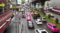Bangkok traffic from the skywalk. Organized chaos!