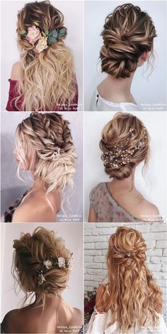 20 Long Wedding Hairstyles and Updos from belaya_lyudmila Long coiffure . - 20 Long Wedding Hairstyles and Updos from belaya_lyudmila Long chignon wedding hairstyles from bela - Wedding Hair And Makeup, Wedding Updo, Wedding Beauty, Bridal Hair, Bohemian Wedding Hairstyles, Wedding Dress, Boho Updo, Foto Wedding, Wedding Ceremony