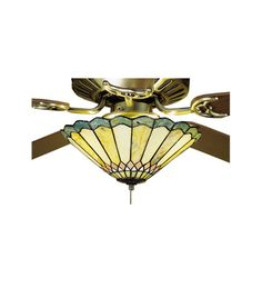 "Meyda Tiffany 27449 12""W Jadestone Carousel Fan Light Fixture"