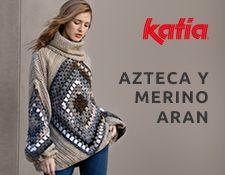 Maxi suéter a crochet Azteca y Merino Aran : Jersey a crochet con rombos granny squares en mangas. Poncho Au Crochet, Pull Crochet, Crochet Doll Dress, Crochet Clothes, Kimono Fashion, Diy Fashion, Cape Pattern, Free Knitting, Knitting Projects