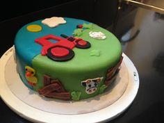 Boerderij-taart voor neefje Anton, 2 jaar.