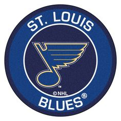 St. Louis Blues Team Emblem Throw Rug
