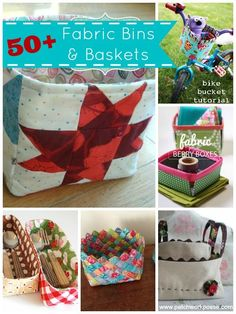 50   Fabric Baskets  and Bins Tutorials | patchwork posse #fabricbins #freepattern