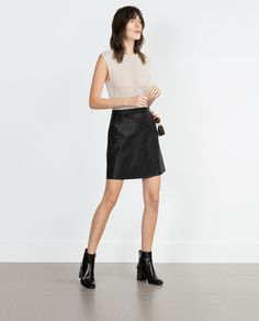 FAUX LEATHER DRESS-Going Out-WOMAN | ZARA United States