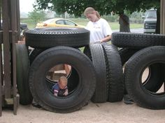 How to Make a Playground From Recycled Tires