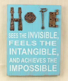 Another great find on #zulily! 'Hope' Wall Sign by Young's #zulilyfinds