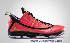 Discounts Jordan CP3.VI AE 580580-609 Bright Crimson Electric Green-Black-Violet Pop