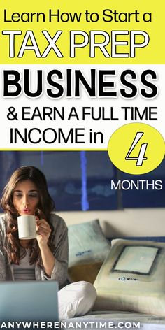 Make a full time income with this tax preparation course designed for beginners with no marketing experience. Learn how to make money with this work at home course. Even if you've never done your own taxes. Online Work From Home, Work From Home Moms, Way To Make Money, Make Money Online, Business Tips, Online Business, Income Tax Preparation, Bookkeeping Business