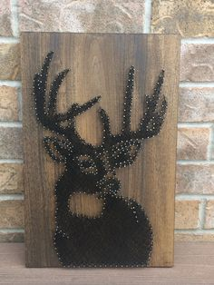 String Art - Buck Handmade string art of a Buck. Unique home decor and accents.