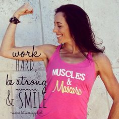 Muscles & Mascara Tank Top www.moxiefitnessapparel.com