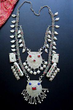 Vintage Kashmiri Tribal Jewelry - Chanda Har Necklace