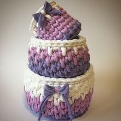 A personal favourite from my Etsy shop https://www.etsy.com/listing/511307053/set-of-3-baskets-viola-lilac-white