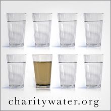 charitywater.org 100% of donations go to bringing clean and safe water to developing nations. The charity hosts tons of different projects and ways to get involved, check it out! Water effects everything -- health, education, women & children, poverty. Why Water Video http://www.charitywater.org/whywater/
