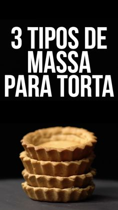 3 Tipos de Massa Para Torta - Aprenda a fazer três massas bases clássicas da confeitaria francesa: Brisée, Sablée e Sucrée! Sweet Recipes, Cake Recipes, Dessert Recipes, Crowd Recipes, Quick Recipes, Family Recipes, Quick Meals, Casserole Recipes, Good Food