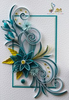 neli: Quilling card - ( 10.5 cm - 15 cm ) I just started doing this and I can't wait until I can perfect it and make something this beautiful!