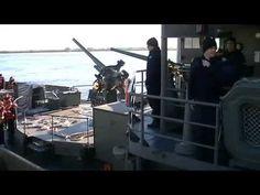Monitor Parnaíba (U17) de la Marina de Brasil zarpando de Rosario 03-06-...