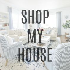Winter Decorating Idea: DIY Drop Cloth Pillow With Pom Poms - Thistlewood Farm Fix Sagging Couch, Grey Paint Colors, Gray Paint, Diy Window Shades, Big Blank Wall, Blue And White Living Room, Striped Chair, Thistlewood Farms, Decorating Your Home