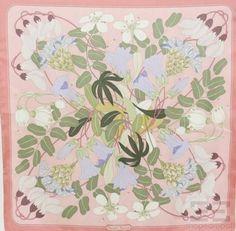 Hermes Vintage Pink Silk Twill Niki Goulandris