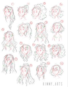 Hair Reference, Drawing Reference Poses, Drawing Tips, Drawing Ideas, Art Drawings Sketches, Cute Drawings, Drawings Of Hair, Anime Hair Drawing, Hair Styles Drawing