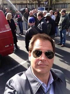 """Another day at the NCIS office!"" ~Twitter / M_Weatherly"