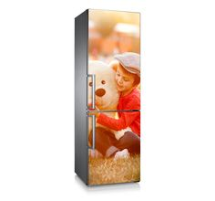 """Vinilo para frigorífico """"Teddy bear & child"""" decora tu Hogar. Personaliza también con la foto de tu niñ@"""