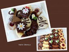 Svatební cukroví Czech Recipes, Ramadan Decorations, Christmas Cookies, Baked Goods, Waffles, Pudding, Sweets, Breakfast, Food