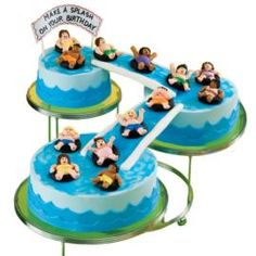 COOL END OF SUMMER POOL PARTY CAKE.