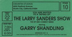 Comedy Series, Tv Series, The Larry Sanders Show, Garry Shandling, Studio City, You Are Invited, Inspired, Image, Tv Shows