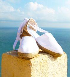 LOW Wedge Lace Up Women Espadrilles Organic Cotton by IBICENCAS #espadrilles #wedge #hippie  #sandals #shoes #wedding #handmade