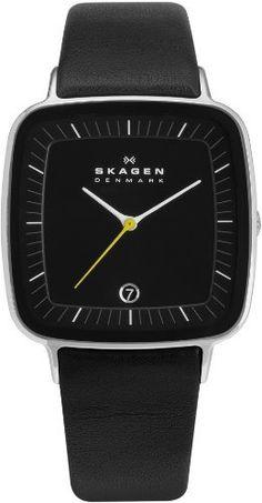 Skagen Hiromichi Konno Black Leather Watch Skagen. $145.00