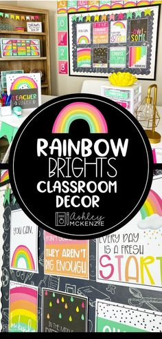 Rainbow Classroom Decor Ideas This classroom decor bundle is full of modern and fresh rainbow classroom decor resources! It contains over 700 pages of decor to make your classroom pop! Kindergarten Classroom Decor, Classroom Decor Themes, Middle School Classroom, 2nd Grade Classroom, Classroom Setup, Classroom Design, Future Classroom, Classroom Organization, Elementary Classroom Themes
