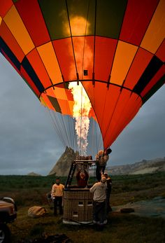 anywhere in a hot air balloon