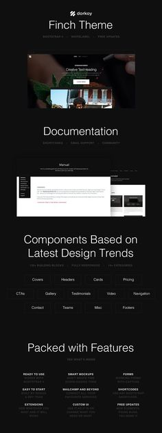 Finch Theme. Bootstrap Themes