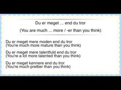 Learn Danish - 50 Happy Phrases! (Praise, compliments, thanking, gratitude, preferences, etc.) - YouTube