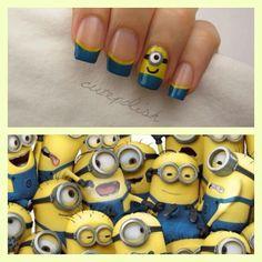 Despicable Me nails- yay minons!