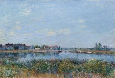 Saint-Mammès le Matin Alfred Sisley 1881 The main subject in this landscape is really the sky which represents two-thirds of the composition. Like Constable when he conducted a systematic study of cloud types Sisley gave an architectural role to the sky using different planes to give his painting depth. In the majestic foreground of the bank a genuine space of pure abstraction the artist casts the shadow of the clouds in free and energetic touches as if on a color palette. Each plane is…