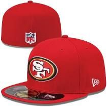 Mens San Francisco New Era Scarlet On-Field Player Sideline Fitted Hat 22a1989d863