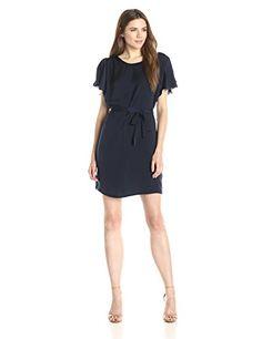 Lark & Ro Women's Tie Waist Shift Dress, Navy, Large Lark & Ro http://www.amazon.com/dp/B00SWVLL7A/ref=cm_sw_r_pi_dp_ZQdkwb1C555RM
