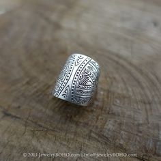 BOHO 925 Silver Ring-Gypsy Hippie Ring,Bohemian style,Statement Ring R120 JewelryBOHO,Handmade sterling silver BOHO Tribal printed ring