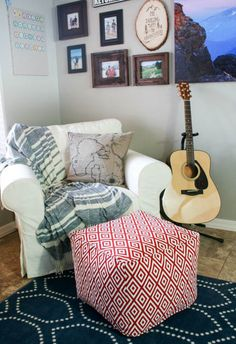 How to make your own floor pouf!